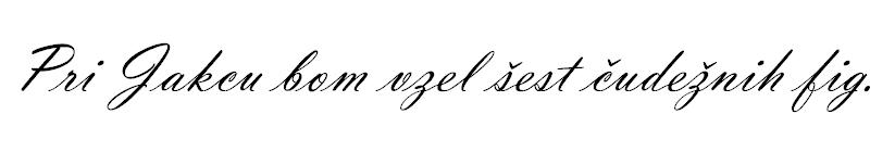 Font brez napake